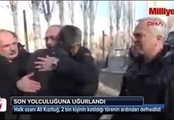Halk ozanı Ali Kızıltuğ son yolculuğuna uğurlandı