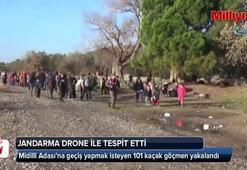 Jandarma ekipleri drone ile tespit ettiği 101 kaçağı yakaladı
