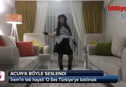 Down sendromlu İrem'in tek hayali O Ses Türkiyeye katılmak