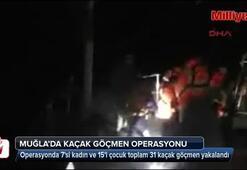 Sürat teknesinde 31 kaçak göçmen yakalandı