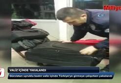 Valiz içinde yakalandı