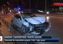 Bağdat Caddesinde feci kaza