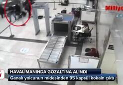 Ganalı yolcunun midesinden 95 kapsül kokain çıktı