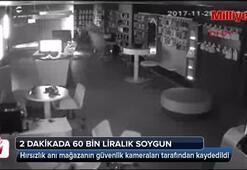 Hırsızlık anı güvenlik kameralarına yansıdı
