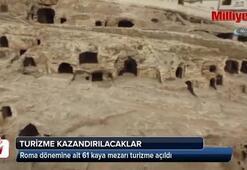 Roma dönemine ait kaya mezarları turizme kazandırılacak