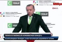 Erdoğan,  evde torunlarıyla yaşadıklarını anlattı