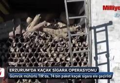 Gümrük mühürlü TIRda 74 bin paket kaçak sigara ele geçirildi