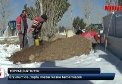 Erzurumda toplu mezarlar kazıldı