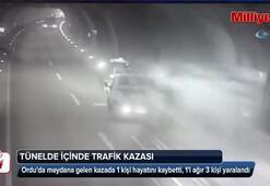 Orduda tünel içinde trafik kazası