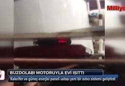 Buzdolabı motoruyla evi ısıtan bir sistem geliştirdi