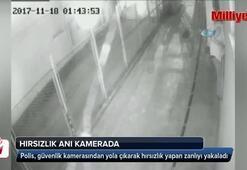 Kamu kurumunda hırsızlık güvenlik kamerasına yansıdı