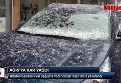 Ağrı'da kar yağışı etkili olmaya başladı