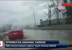 İstanbulda sağanak yağmur başladı