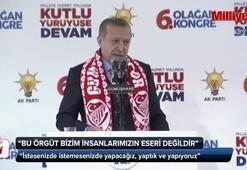 Cumhurbaşkanı Erdoğan AK Partinin Gümüşhane İl Kongresinde konuştu
