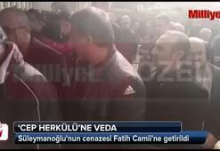 Naim Süleymanoğlunun cenazesi Fatih Camiine getirildi