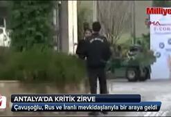 Antalyada 3lü dışişleri bakanları zirvesi