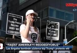 Los Angeles'ta Trump protestosu