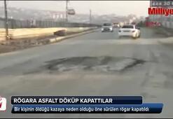 Rögar asfaltla kapatıldı