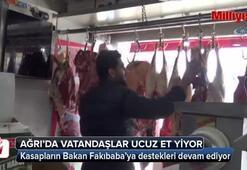 Ağrı'da vatandaşlar ucuz et yiyor