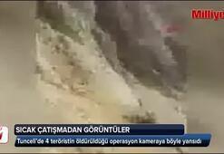 Tunceli 4 teröristin öldürüldüğü çatışmadan sıcak görüntüler