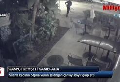 Sokak ortasında silahlı gaspçı dehşeti kamerada