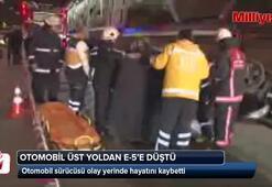 Kadıköyde üst yoldan E-5e uçan otomobilin sürücüsü öldü