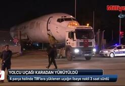Antalya'da yolcu uçağı şehirler arası yolda okula götürüldü