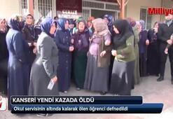 Okul servisinin altında kalarak ölen öğrenci defnedildi