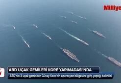 ABD uçak gemileri Kore Yarımadasında...