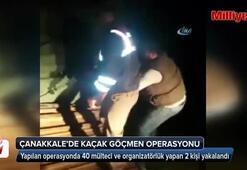 Çanakkalede 40 kaçak göçmen yakalandı