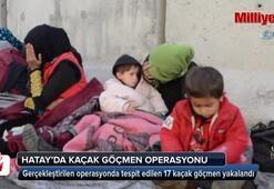 Hatay'da 17 kaçak göçmen yakalandı