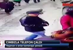 Cımbızla cep telefonu hırsızlığı