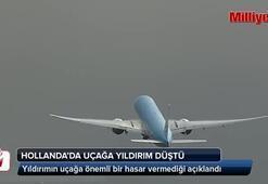 Uçağa yıldırım böyle düştü