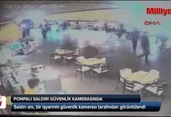 Pompalı tüfekli saldırı güvenlik kamerasında