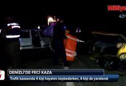 Denizlide feci kaza: 4 ölü, 4 yaralı