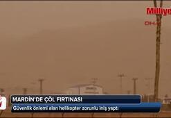 Mardinde çöl fırtınası