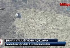 9 terörist öldürüldü