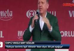 Cumhurbaşkanı Erdoğan CHPli vekilin sözlerine sert karşılık verdi