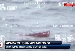Batan kargo gemisini arama çalışmaları kamerada