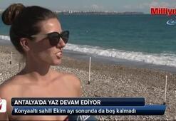 Antalyada yaz devam ediyor