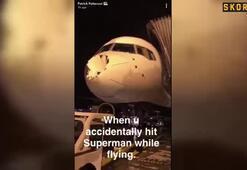 Oklahomanın uçağı bu hale geldi 30 bin fit...