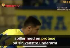 Cosmin Lambrunun protez kolla sahaya çıkması, maçın önüne geçti