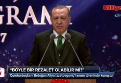 Cumhurbaşkanı Erdoğan Aliya İzzetbegoviçi anma töreninde konuştu