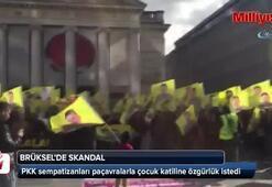 PKK sempatizanları terör örgütü elebaşısı için eylem yaptılar
