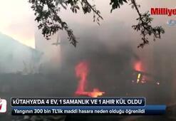 Ev yangını 300 bin TLlik hasara neden oldu