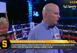 Arjantinin güzel sunucusu Sol Perez ring kızı oldu