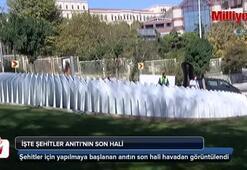 Şehitler Anıtı havadan görüntülendi