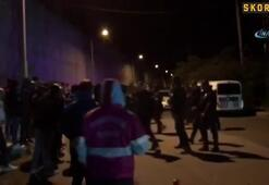 Trabzonspor taraftarı tesislere gelerek takıma tepki gösterdi...