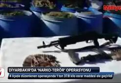 Diyarbakırın 4 ilçesinde narko-terör operasyonu