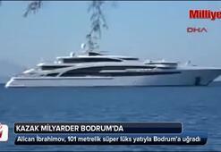 Kazak milyarder lüks yatıyla Bodruma uğradı